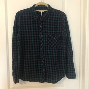 PacSun purple and teal flannel